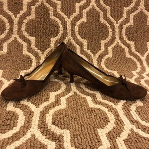 Boden brown suede kitten heels size 41 / 10